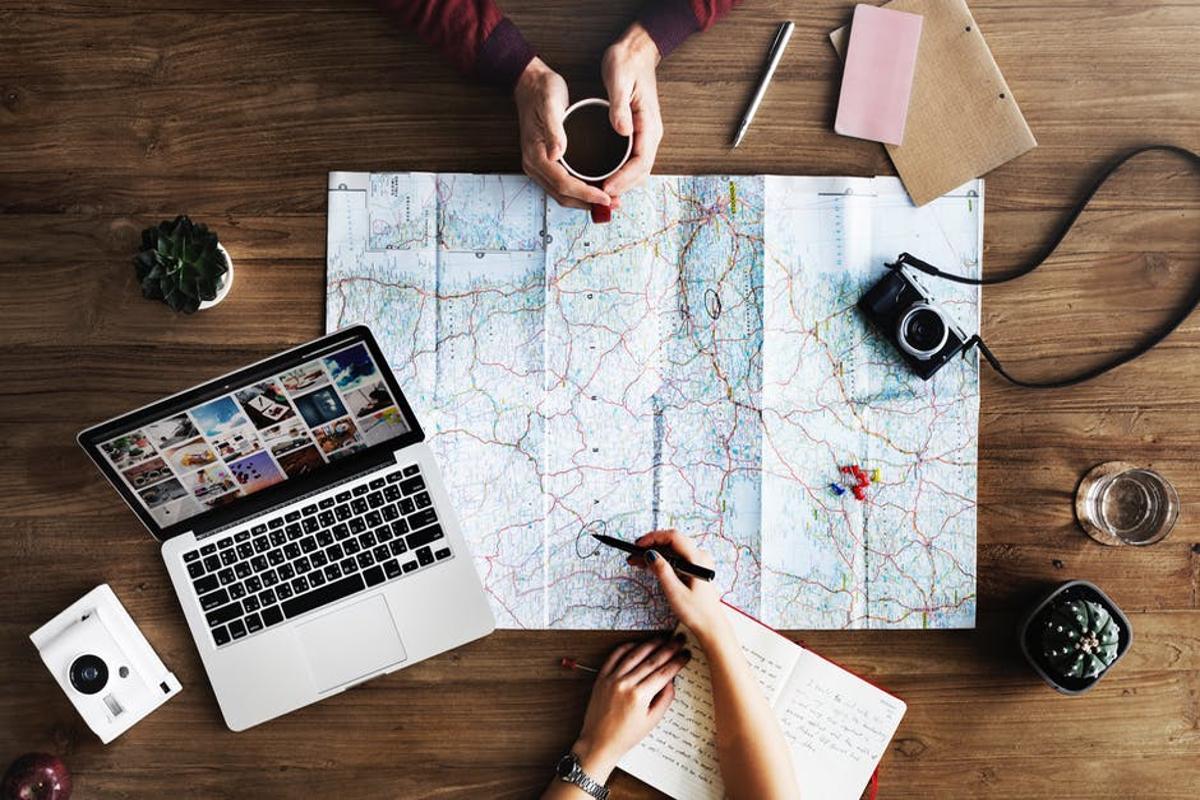 mapa y computador